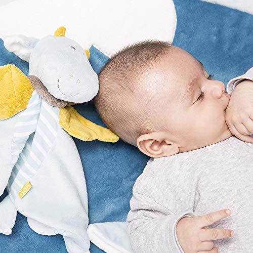 Einschlafhilfe für Kleinkind - Schmusetuch Drache Deluxe, Schnuffeltuch mit Befestigungsring für Schnuller - Schnuller, Schnuffeltuch, Schmusetuch, Monaten, Kuscheln, einschlafhilfe kleinkind, Drache, Deluxe, Befestigungsring, Babys