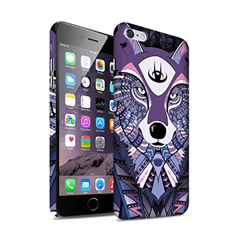 STUFF4 Matte Snap-On Hülle / Case für Apple iPhone 7 Plus / Elefant-Farbe Muster / Aztec Tier Muster Kollektion Wolf-Lila
