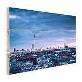 Panorama Prenzlauer Berg Berlin - Foto auf Holz - 80x60 cm (Verfügbare Formate: 30x20, 60x40, 80x60, 120x80) TOP-Qualität Holz bild!