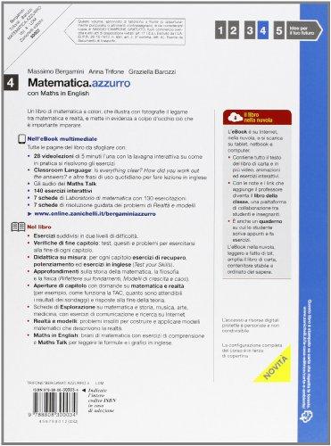 Libro Matematica.azzurro. Con Maths in english. Per le Scuole superiori. Con e-book