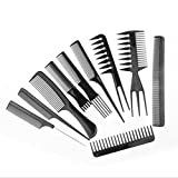 Comb Makeup Comb Tail Pin Hair Hairdressing Stylists Barbers Combs 10 Piece Set