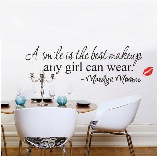 weksi-wandtattoo-wandsticker-a-smile-is-the-best-makeup-any-girl-can-wear-wandaufkleber-wandbilder-s