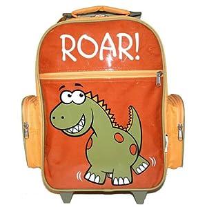 Bugzz Kids Stuff Childrens Trolley Case Dinosaur