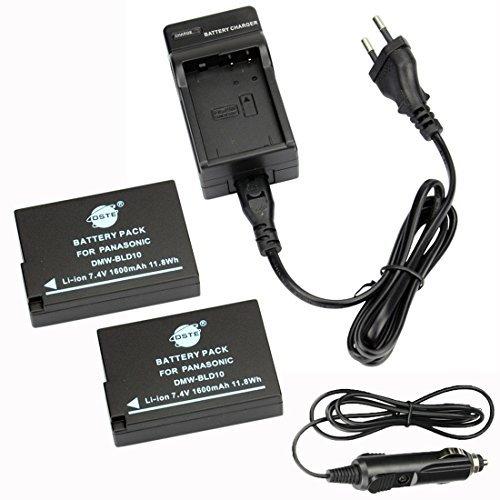 G3-ersatz-akku (DSTE®(2 Pack)Ersatz Batterie und DC115E Reise Ladegerät Kit für Panasonic DMW-BLD10E Lumix DMC-G3 DMC-GF2 DMC-GX1 Kamera as Panasonic DMW-BLD10 DMW-BLD10E DMW-BLD10PP DE-A93B)