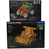 Laser Pegs Racer 4-in-1 Building Set Building Kit & Laser Pegs Mini Super Truck Building Kit Over 100 Pieces In This Two Box Bundle Great Gift For Kids 8+ Years Old