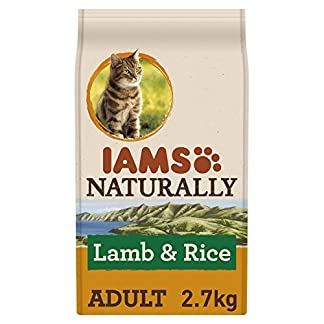 IAMS Naturally Adult Dry Cat Food Rich in New Zealand Lamb and Rice, 2.7 kg 12