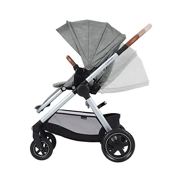 Maxi-Cosi Adorra Baby Pushchair, Comfortable and Lightweight Stroller with Huge Shopping Basket, Suitable from Birth, 0 Months - 3.5 Years, 0-15 kg, Nomad Grey Maxi-Cosi Cocooning seat - the luxury of a large padded seat for baby Lightweight - a light stroller less than 12kg that makes walking effortless Huge shopping basket - very easy to access 8