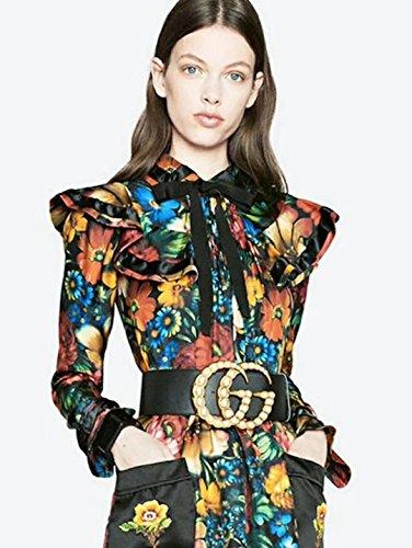 Fashion Women G Buckle Windbreaker Belt 7CM