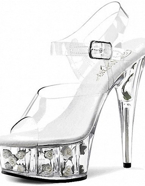 ZQ Zapatos de mujer-Tac¨®n Stiletto-Tacones / Punta Abierta / Plataforma-Tacones / Sandalias-Boda / Casual / Fiesta...