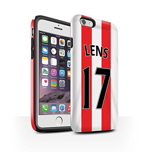Offiziell Sunderland AFC Hülle / Glanz Harten Stoßfest Case für Apple iPhone 6 / Pack 24pcs Muster / SAFC Trikot Home 15/16 Kollektion Lens