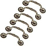 Creatwls Antik Möbel Schublade Knöpfe Zinklegierung Antik Bronze Möbelgriff Schrankgriff Küchengriff Küchenschrank Griffe Schrank Zieht Türgriffe - 6pcs