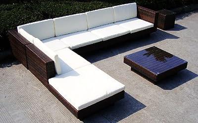 Baidani Rattan Lounge-Garnitur Summer Dream, 20-teilig von Baidani