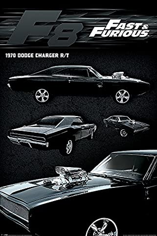 Poster Fast & Furious 8 - Dodge Charger (61cm x 91,5cm)