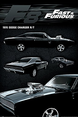 Fast & Furious 8 Poster Dodge Charger (61cm x 91,5cm) + 2...