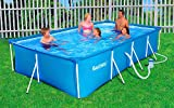 Bestway Swimmingpool 399x211x81 cm Komplett-Set mit Pumpe und Filter