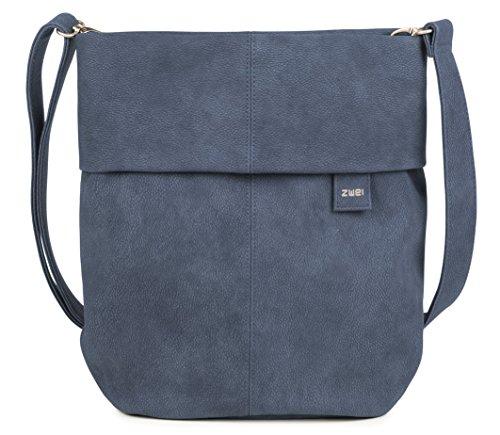 Blau Leder Tasche (zwei Mademoiselle M12 Umhängetasche 31 cm Nubuk-Blue)