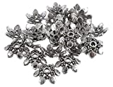 #10: Silver Bead caps antique finish for jewelry making design 24