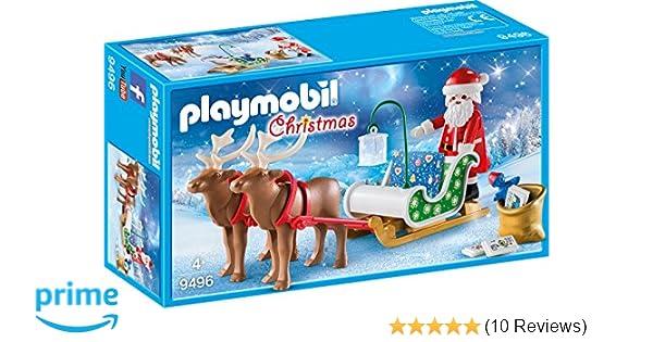 Playmobil PLAYMOBIL 1.2.3 Edition Beste Weihnachtsmann mit Rentierschlitten Kinder Spielze