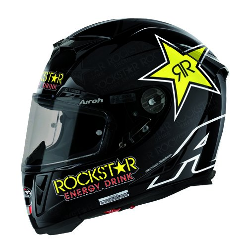 AirohCasco de Moto GP de 500, color Negro (Rockstar), talla 62-XL