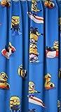 NOVUM fix Verdunkelungs - Kinder-Gardine Vorhang Lärmdämmend Disney DIE Minions Kinderzimmer Blickdicht, Thermoeffekt, Blau (140x175cm cm)