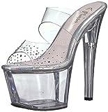 Best Pleaser Platform Heels - Pleaser Women's SKY-302SD Sandal, clr, 7 M US Review