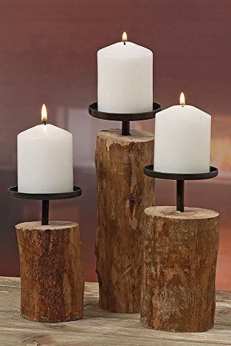3er-Set Kerzenleuchter Kerzenständer