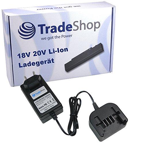 Trade-Shop 18V 20V Li-Ion Akku Ladegerät Ladestation für Black & Decker STC1820 GLC1815L GLC1823 BL2018-XJ GKC1825L GTC1850L20 STC1820 GTC1843LB GLC1825LB GPC1820LB BDCDMT120 CHH2220 LCS120 LDX120C (20v Lithium-batterie-ladegerät)
