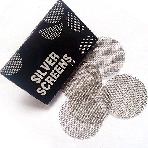 Doublehero 100 Stücke Edelstahl Screen Rohr Filterung Multifunktionale Shisha Wasserpfeife Metallfilter Rauchrohre Bildschirm (A) - 100-mesh-sieb
