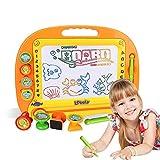Magnetische Zeichenbrett Kinder Spielzeug - Doodle Pro Skizze 8 Farben Zone Handwerk Kunst löschbares Spielzeug für Kinder Kleinkind Skill Developmet mit 4 Briefmarken und 1 Stift