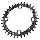 Oval Kettenblatt 34T cysky Ultralight Single schmal Breite Kette Ring für die meisten Shimano und Sram-Kurbeln, Road Fahrrad BMX MTB (104BCD, schwarz)