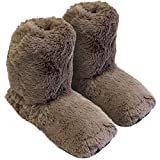 Originale Hot Sox Pantofola - Scaldapiedi in altezza di una calza, riscaldate in microonde, misura M (36-41) / marrone