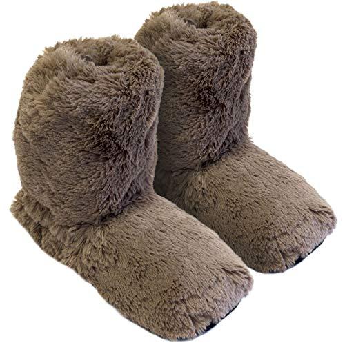 Original Hot Sox Schoko Gr.M 36-41 in Sockenhöhe aufheizbare Körnerpantoffel Wärmehausschuhe Supersoft