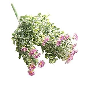 vijTIAN Ramo de Flores Artificiales de crisantemo Silvestre para decoración del hogar, Ideal para decoración de Bodas…