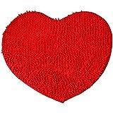 etbotu Red Heart Love Micro Fiber chenilla Soft mullido Alfombra Dormitorio Baño Alfombra rojo