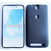 Prevoa ® 丨 Elephone P8000 Funda - Silicona TPU Funda Cover Case with dentro plastico Funda para Elephone P8000 Smartphone - Negro