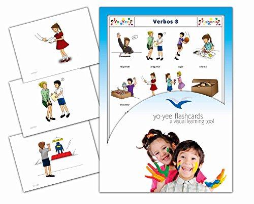 Tarjetas con ilustraciones en español - Verbos 3 - a modo de juego, amplían el vocabulario básico, la construcción de frases y la gramática: para guarderías, escuelas de primaria o logopedia
