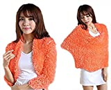 #7: iSweven Trendy Hot fashion multi style magic scarf wrap cardigan neck warmer (Orange)