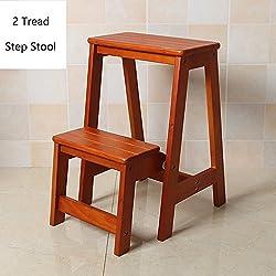 QX Hocker IAIZI Hölzerner 2 Schritt-Schemel für Erwachsene u. Scherzt Innenschritt-Leiter kleine Schemel-tragbare Schuh-Bank/Blumen-Zahnstange (Farbe : Brown)