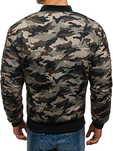 BOLF Herren Bomberjacke Military Camo-Muster MIX Khaki_210