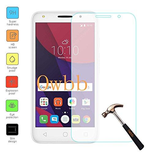 Owbb Glas Display Schutzfolie für Alcatel Pixi 4 (5.0Zoll) Smartphone Screen Panzerglas Hartglas Schutzfolie