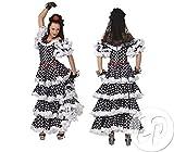 Funny Fashion Costume da Tango Taglia 38/40 Vestito a Pois Bianchi e Neri Modello Spagnolo Flamenco Argentina