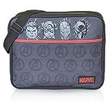 Marvel Avengers Umhängetaschen Herren, Messenger Bag Mit Captain America Iron Man, Hulk, Black...