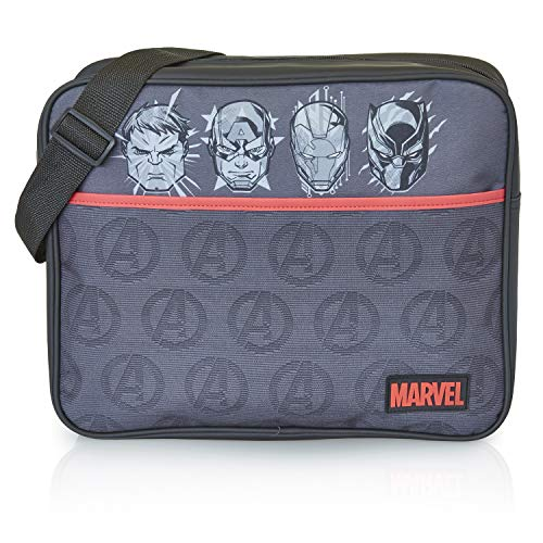 Marvel Avengers Mochila Bandolera Negra Captain America