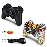 2 Pack PS3 Controller Wireless, Dual Vibration Sixaxis Gamepad Joystick für Sony PS, Dual Vibration Sixaxis Gamepad Joystick für PS3 Playstation 3