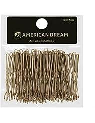 AMERICAN DREAM Pack of 100 x Haarnadeln - blond - gewellt - 2 inch/5 cm Länge, 1er Pack (1 x 68 g)