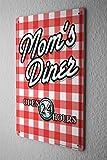 Blechschild Retro Wand Deko Schild Mom`s Diner 20X30 cm