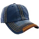 Unisex Baumwolle Baseball Cap Star Sport Mütze Baseballkappe Snap back Trucker MFAZ Morefaz Ltd (Jeans Blue)