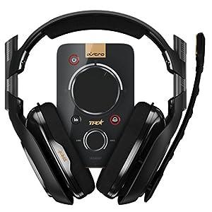 Astro 939001511–Ausinės (mit Mikrofon) A40und Audio-Decoder MixAmp Pro TR, Schwarz