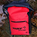 KLOP256Ultra Dry Adventurer Premium Wasserdichte Tasche 25L, Dry Bag mit adjuctable Langer Schultergurt für Schwimmen Kayaking Dejeuner Rafting Segeln, Rot