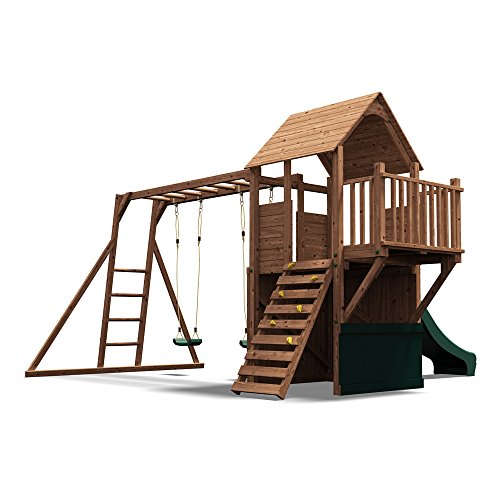 Wooden Playhouse Climbing Frame Childrens Outdoor Play Tower Monkey